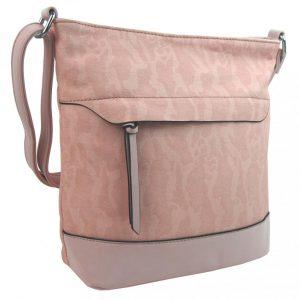 Crossbody kabelka s čelnou zipsovou priehradkou HB062 svetlá ružová