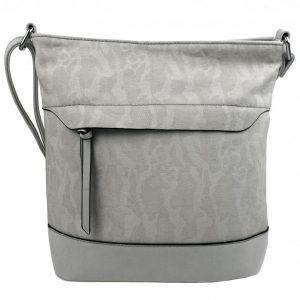 Crossbody kabelka s čelnou zipsovou priehradkou HB062 šedá