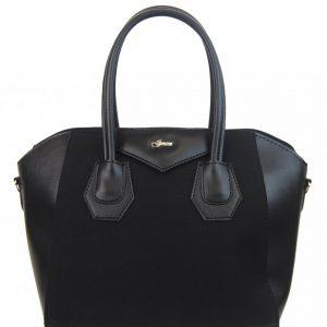 Čierna dámska kabelka S744 GROSSO
