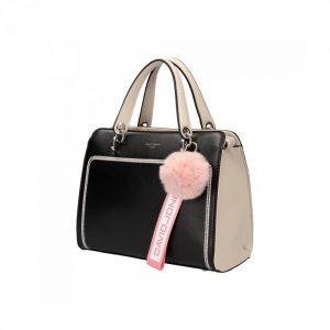 Čierna dámska kabelka v športovom dizajne David Jones 5993-2