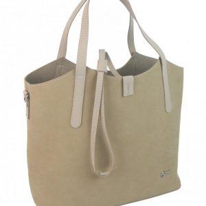 Béžová moderná dámska kabelka GROSSO
