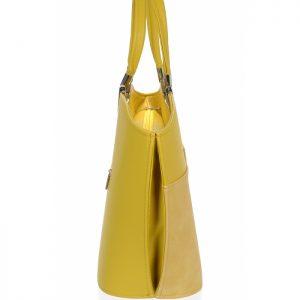 Žltá horčicová matná kabelka do ruky GROSSO