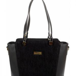 Čierna dámska kabelka cez rameno GROSSO