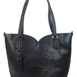 Čierna dámska kabelka cez plece 4394-BB