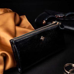 Priestranná čierna dámska peňaženka v krabičke MILANO DESIGN
