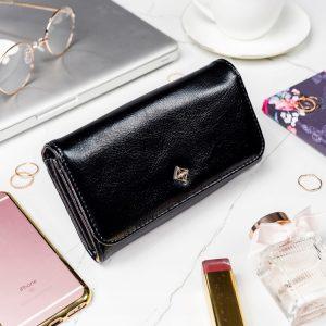 Čierna dámska peňaženka v darčekovej krabičke MILANO DESIGN