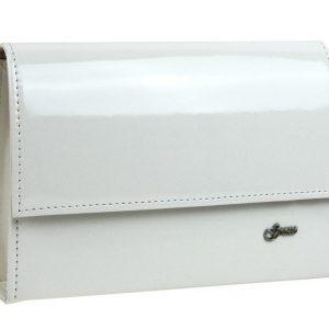 Biela lakovaná dámska listová kabelka SP101 GROSSO