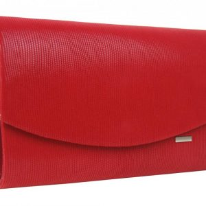 Červená spoločenská listová kabelka SP128 GROSSO