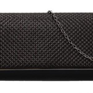 Čierna dámska listová kabelka na retiazke HL3159