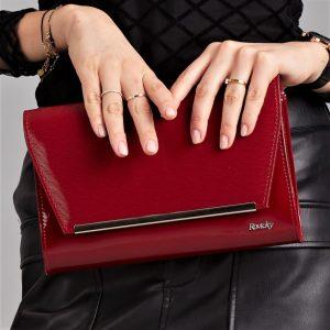 Bordová lakovaná luxusná dámska listová kabelka ROVICKY