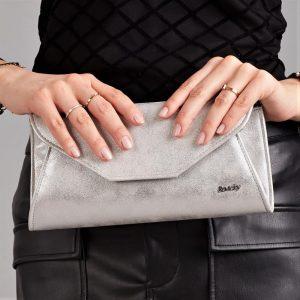 Strieborná dámska listová kabelka W55