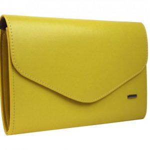 Banánovo žltá matná dámska listová kabelka SP102 GROSSO