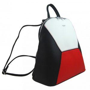 Čierno-hnedo-biely dámsky elegantný batôžtek