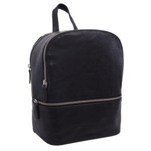 Dámsky kožený batoh čierny