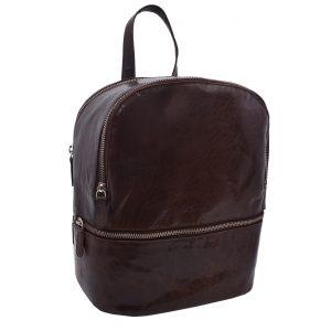 Dámsky kožený batoh tmavohnedý