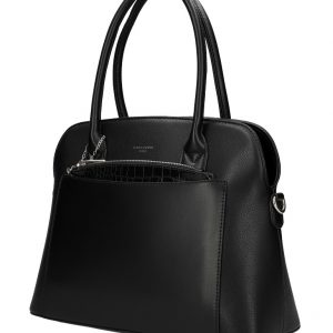 Čierna moderná dámska kabelka David Jones 6105-1