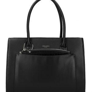 Čierna moderná dámska kabelka David Jones 6105-2