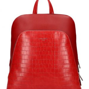 Červený dámsky módny batôžtek David Jones