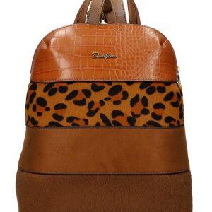 Hnedý dámsky módny elegantný batôžtek David Jones