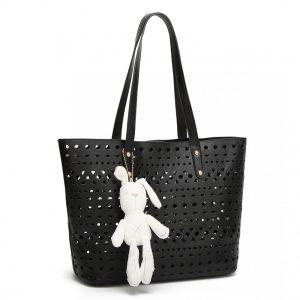 Čierny dámsky kabelkový set Rabbit 3v1 Miss Lulu