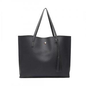Dámska čierna kabelka pre formáty A4 Miss Lulu