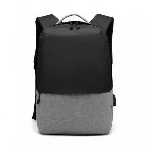 KONO čierny elegantný batoh nepremokavý s USB portom UNISEX