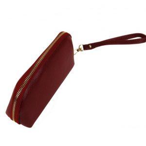 Praktická dámska puzdrová peňaženka červená