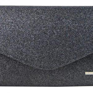 Čierna trblietavá spoločenská listová kabelka SP102 GROSSO