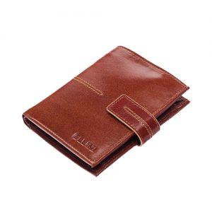Ellina hnedá pánska RFID luxusná kožená peňaženka v darčekovej krabičke