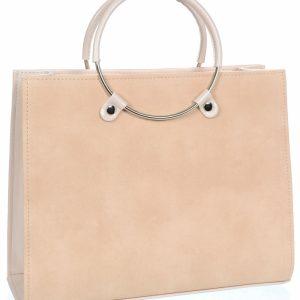 Lososová moderná elegantná dámska kabelka S730 GROSSO