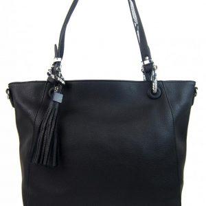 Čierna moderná kabelka cez plece 4919-BB