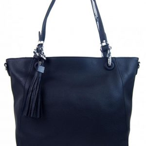 Atramentovo modrá moderná kabelka cez plece