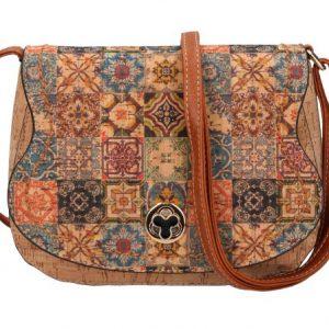 Crossbody dámska kabelka v korkovom dizajne SE265-1