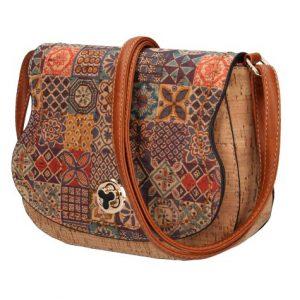 Crossbody dámska kabelka v korkovom dizajne SE265-2