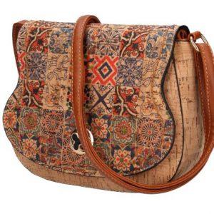 Crossbody dámska kabelka v korkovom dizajne SE265-8