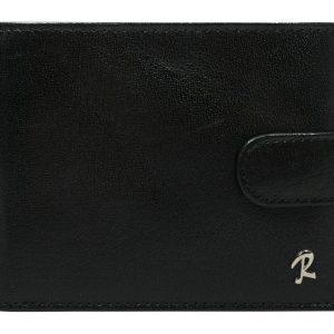 Čierna pánska kožená peňaženka RFID v krabičke ROVICKY