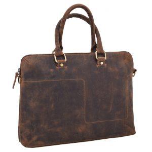 Kožená taška na notebook tan 250854