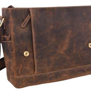 Kožená taška na notebook Tan
