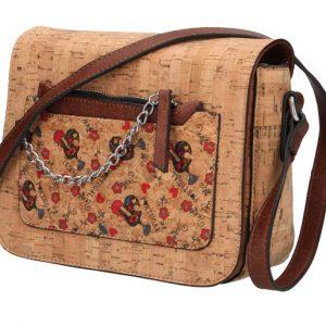 Crossbody dámska kabelka v korkovom dizajne KR665
