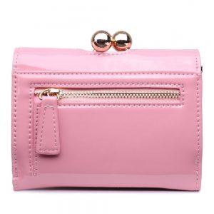 Módna dámska peňaženka ružový lak Miss Lulu