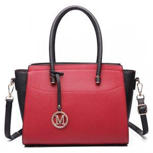 Moderná červeno-čierna kabelka Miss Lulu