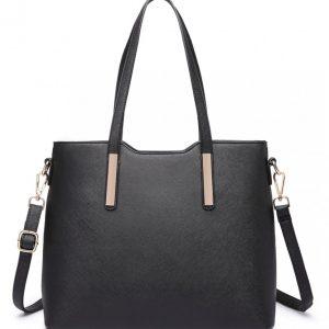 Praktický dámsky kabelkový set 3v1 Miss Lulu čierna