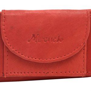 Malá kožená peňaženka červená