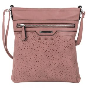 Ružová menšia elegantná dámska crossbody kabelka