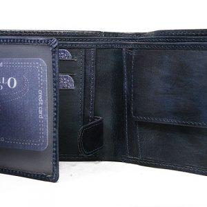 Kožená pánska peňaženka modrá v krabičke WILD