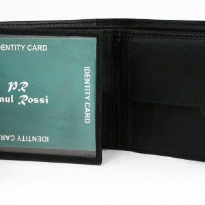 Čierna pánska kožená peňaženka Paul Rossi