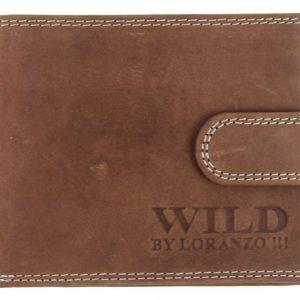 Pánska peňaženka z brúsenej kože WILD opálová hnedá