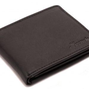 Peňaženka matná kožená čierna