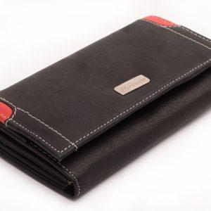 Dámska peňaženka čierna/červená
