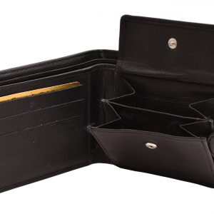 Peňaženka prešívaná vzor čierna
